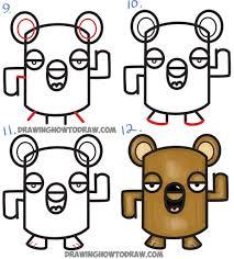 how to draw a cartoon bear how to draw cartoon bear cub from