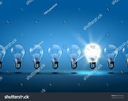 row light bulbs one different others stock illustration 78634858
