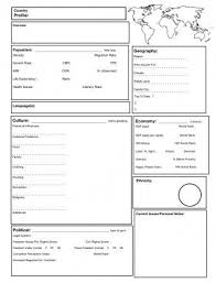 country report template middle school country reports for students fieldstation co