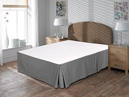 Bed Frame Skirt Utopia Bedding Cotton Sateen Bed Skirt King Grey