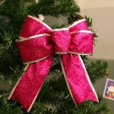 5pcs decor glitter bow tree decoration home