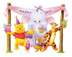 pooh birthday clipart 79