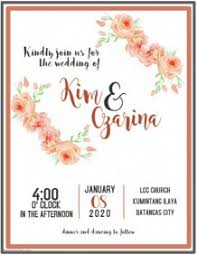 invitation marriage wedding invitation templates postermywall