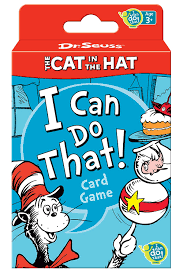 amazon com dr seuss cat in the hat card game toys u0026 games