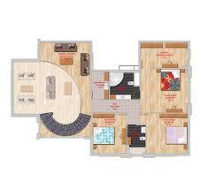 4 bedroom duplex apartment with furniture in lavanda evleri