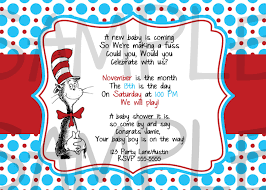 Shrimant Invitation Card Dr Seuss Baby Shower Invitations Cloveranddot Com