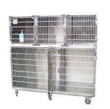 gabbie per gabbie per ambulatori veterinari su ruote in acciaio inox