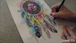 dream catcher speed painting by fiona clarke com youtube