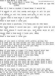 Maps Lyrics That U0027s How Much I Love You Bluegrass Lyrics With Chords