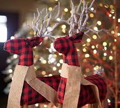 Pottery Barn Christmas Decorations Sale by Fabric Reindeer Pottery Barn
