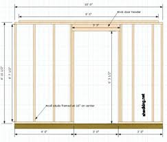 How To Frame A Door Opening This Door Opening We Will Have A 2 6 Header Framed In Above The