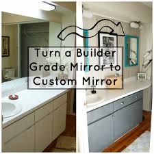 Custom Mirror Seesaws And Sawhorses Builder Grade Mirror To Multiple Custom Mirrors