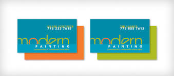 Business Cards Painting Modern Painting Identity