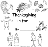 printable thanksgiving book pages for kindergarten happy
