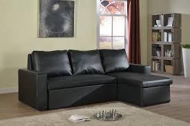 bonded leather sectional sofa black bonded leather sectional sofa bed if 9002 canadian mattress