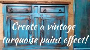 Wooden Furniture Paint Diy Vintage Turquoise Paint Technique Youtube