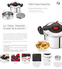 Cuisine Enfant Mini Tefal by Tefal Clipso Essential Autocuiseur 7 5 L Balance Yy2379fa Toux