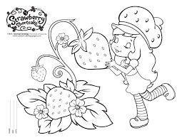 free strawberry shortcake coloring pages strawberry shortcake