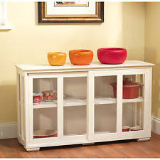 83562wht tms kitchen storage cabinet server buffet stackable hutch