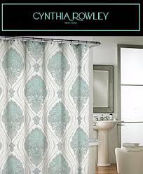 Cynthia Rowley Curtain Cynthia Rowley Ornate Medallion Fabric Shower Curtain 72 By 72