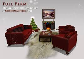 Full Living Room Furniture Sets by Second Life Marketplace Full Perm Christmas Living Room