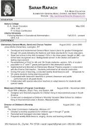Music Resume Examples by Resume Format For Music Teacher Resume Format