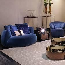 round sofa contemporary fabric leather moony luxury living