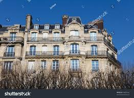 Neoclassical Architecture Houses Typical Neoclassical Architectural Style Paris Stock Photo