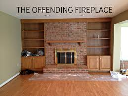 farmhouse bricks wall fire place decor with old wooden mantel f