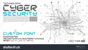 Cyber Style Font Hitech Background Abstract Stock Vector 599061695