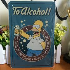 the simpsons vintage classic metal sign retro metal painting