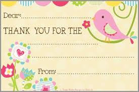thank you postcards pink bird kids thank you postcards