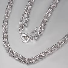fashion jewelry silver necklace images Fashion sterling silver jewelry for men long necklace with special jpg