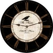 black wall clock distressed crackle black wall clock