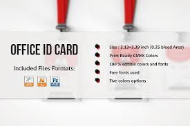 employee id card template card templates creative market