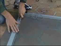 Patio Screen Door Repair Sliding Screen Door Repair Removing The Handle From A Sliding