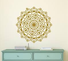 Wall Decals Mandala Ornament Indian by Mandala Flower Vinyl Wall Stickers For Yoga Studio Wall Decal