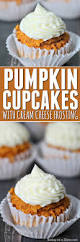 pumpkin cupcakes recipe with easy cream cheese frosting