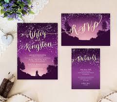 Wedding Invitations Purple Purple Wedding Invitations Lemonwedding