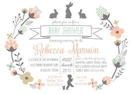 rabbit baby shower bunny baby shower invitations oxsvitation