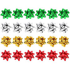 gift wrapping bows sumind 24 pieces metallic gift bows christmas gift