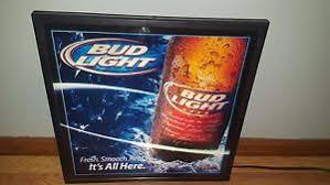 bud light light up sign l k bud light beer bottle light up sign game room man cave