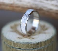 men u0027s wedding band with antler inlay wedding ring
