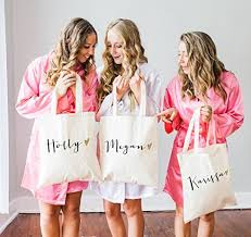 bridal party tote bags personalized glam wedding tote bags for bridal party bridesmaid
