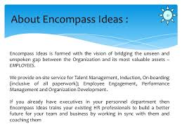 company presentation encompass ideas