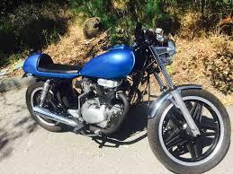 honda 400 400 blue bømber cafe racer honda custom cafe racer motorcycles