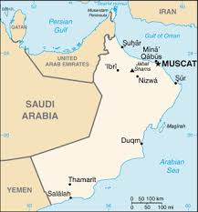 middle east map gulf of oman oman map driving directions and maps