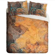 duvet cover with abstract art king or queen in southwest colors