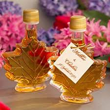 maple syrup wedding favors maple syrup favors 50ml leaf by mansfield maple set
