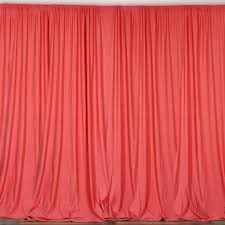 set of 2 coral fire retardant polyester curtain panel backdrops
